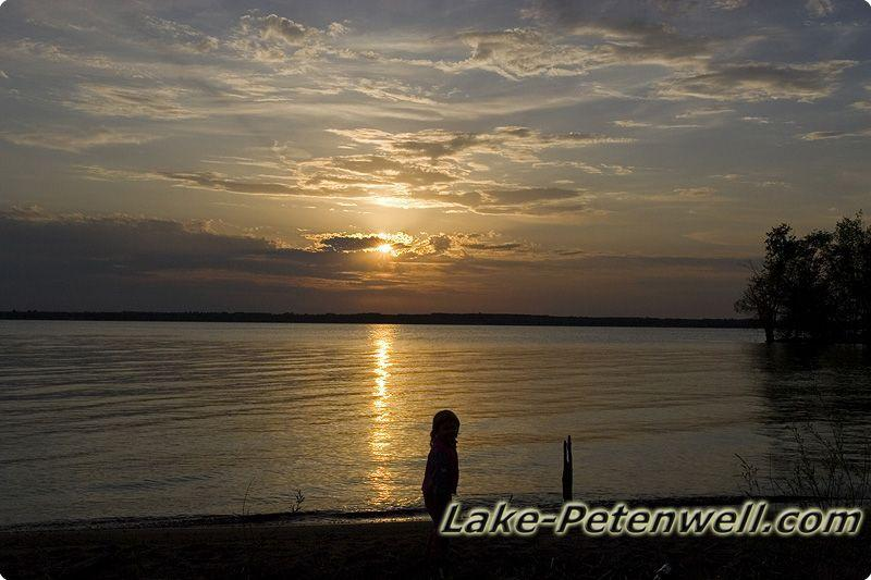 Photos of a Lake Petenwell Sunset on a Sandy Beach!